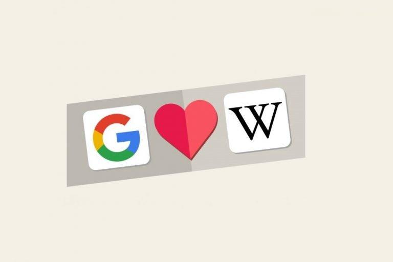 superare wikipedia su google