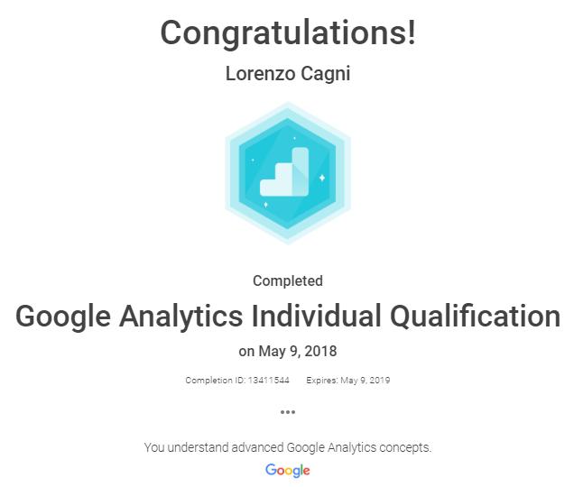 Google Analytics Individual Qualication (IQ)