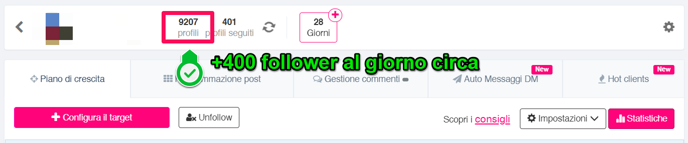 Aumenta i follower reali su Instagram
