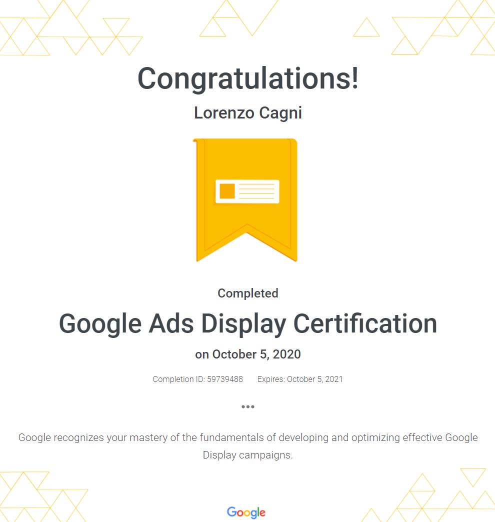 Google Ads Display Certification