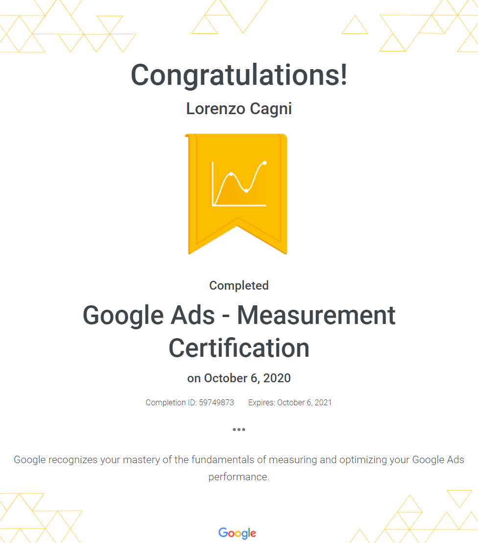 Google Ads - Measurement Certification