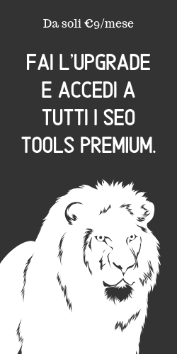 Fai l'upgrade del tuo piano SEO