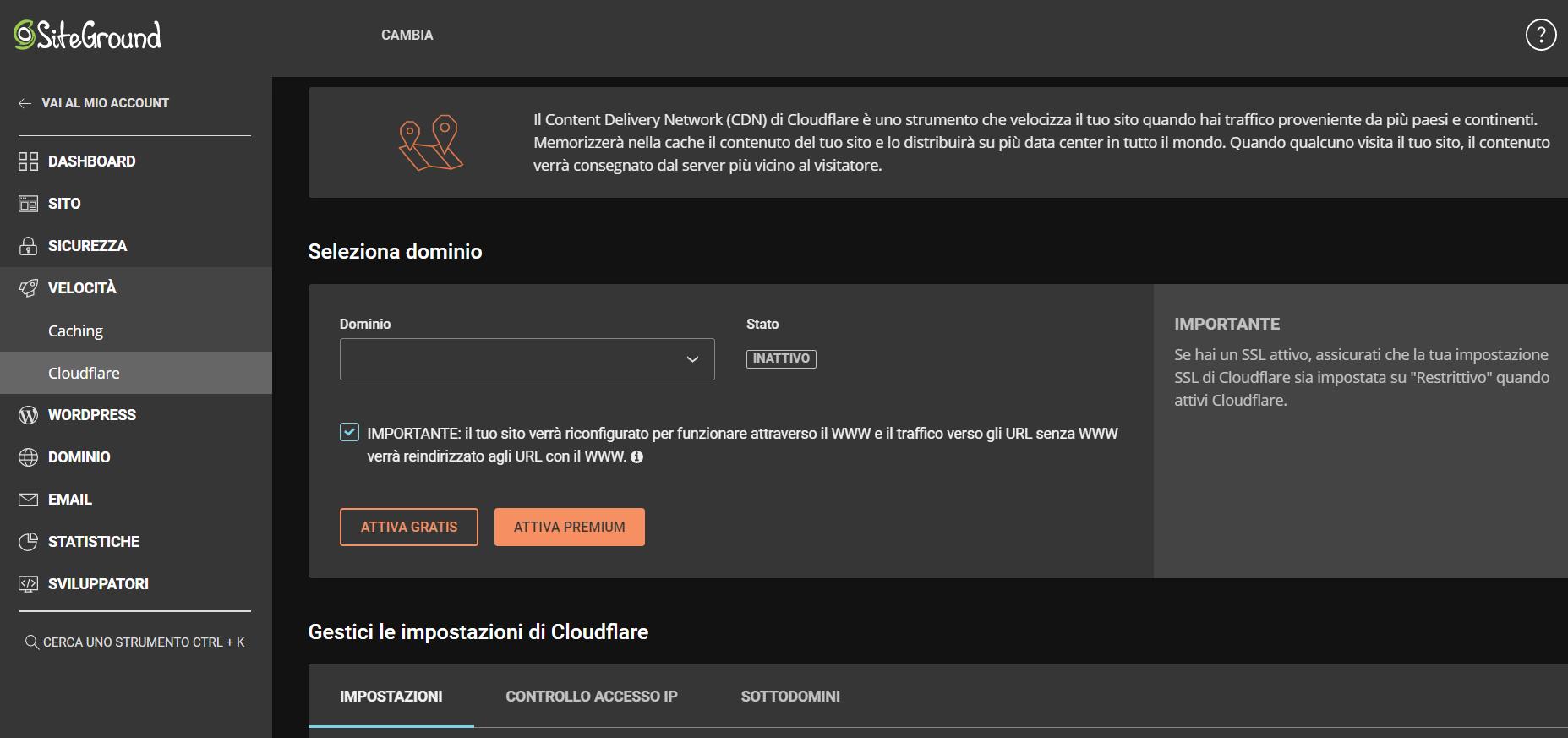 cloudflare siteground