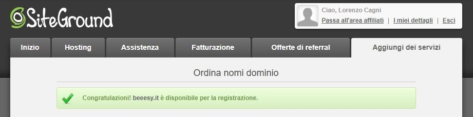 dominio disponibile