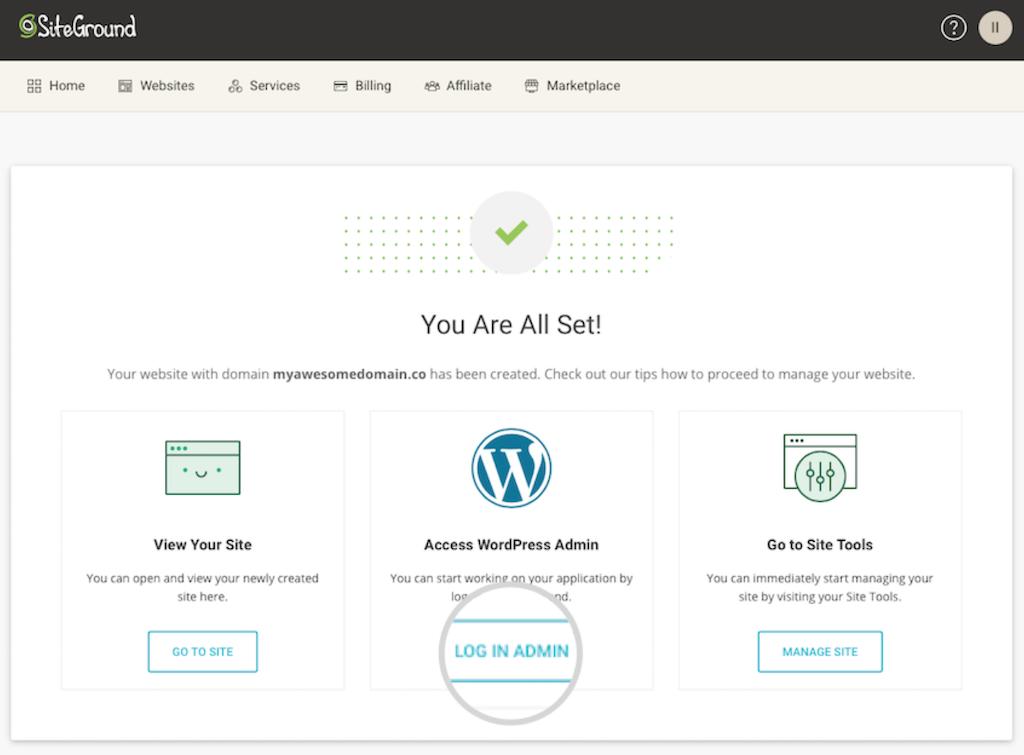 Hai installato wordpress