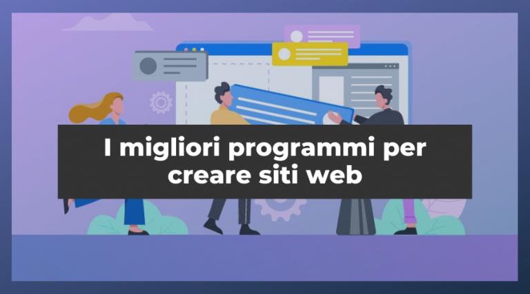 migliori programmi per creare siti web