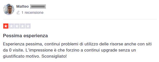 opinioni Siteground negative