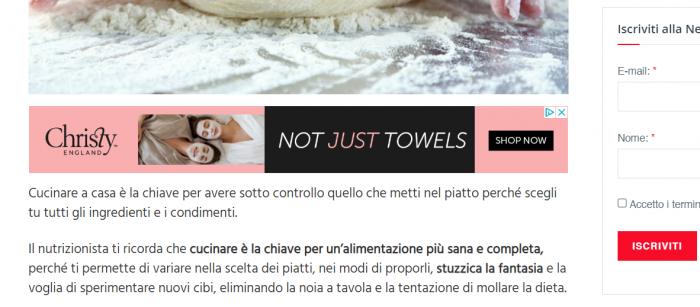 pubblicita sui blog