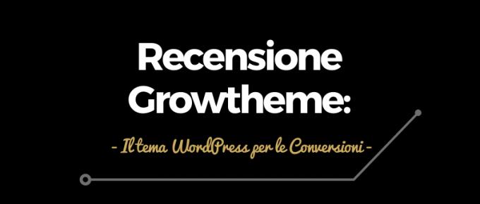 recensione del tema wordpress growtheme