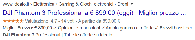 schema markup prezzo