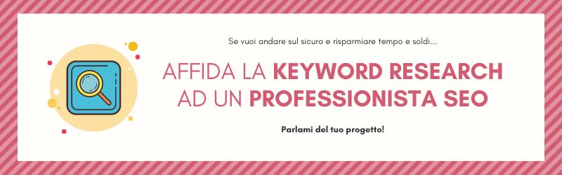 servizio di keyword research