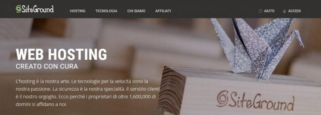 Siteground: miglior hosting