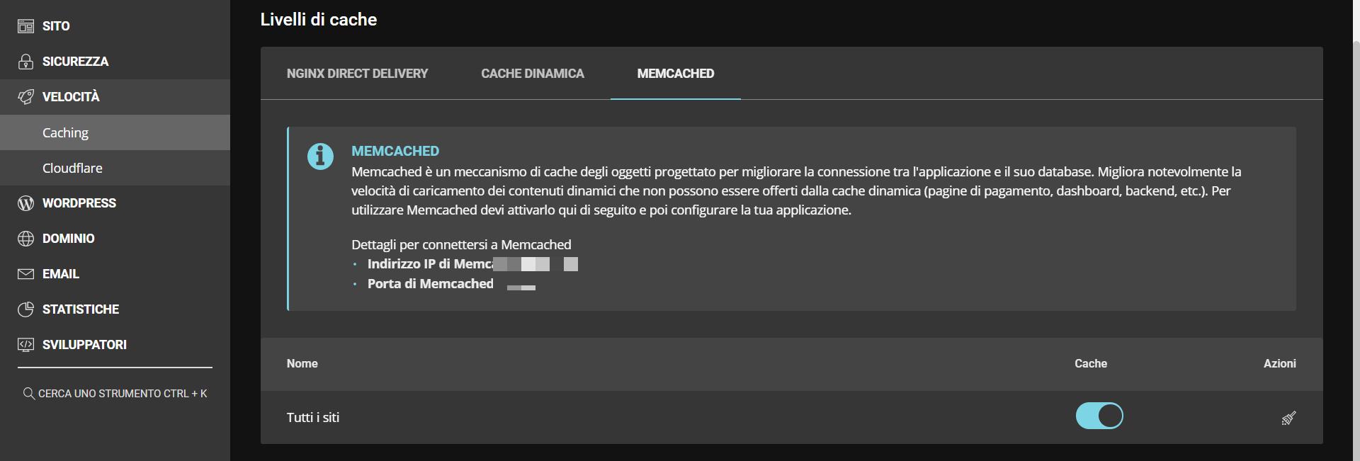 impostazioni siteground per la cache step 2
