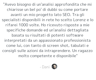Testimonial audit seo
