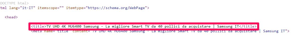 tag title nel codice html