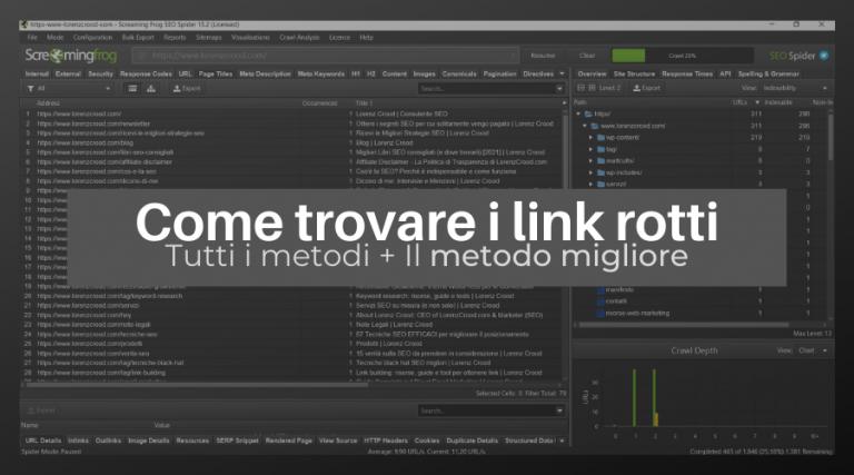Come trovare link rotti: tutti i metodi e quello più efficace