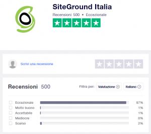 trustpilot siteground